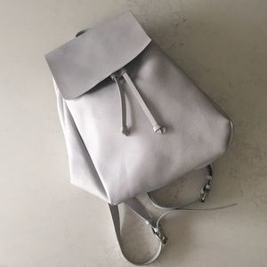 ZARA trafaluc white backpack